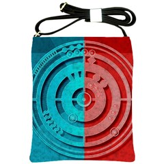 Vector Watch Texture Red Blue Shoulder Sling Bags