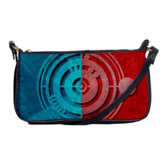 Vector Watch Texture Red Blue Shoulder Clutch Bags