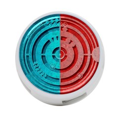 Vector Watch Texture Red Blue 4 Port Usb Hub (two Sides)