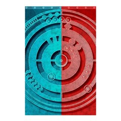 Vector Watch Texture Red Blue Shower Curtain 48  x 72  (Small)