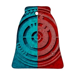 Vector Watch Texture Red Blue Bell Ornament (Two Sides)