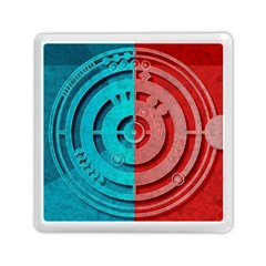 Vector Watch Texture Red Blue Memory Card Reader (Square)