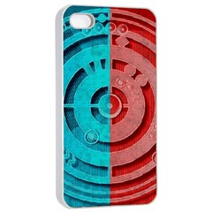 Vector Watch Texture Red Blue Apple iPhone 4/4s Seamless Case (White)