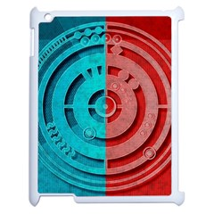 Vector Watch Texture Red Blue Apple Ipad 2 Case (white)