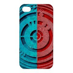 Vector Watch Texture Red Blue Apple Iphone 4/4s Hardshell Case
