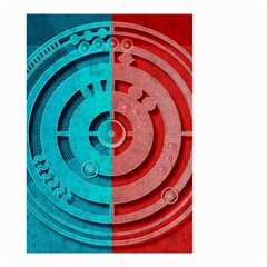 Vector Watch Texture Red Blue Small Garden Flag (two Sides)