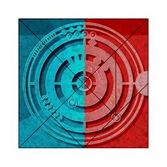 Vector Watch Texture Red Blue Acrylic Tangram Puzzle (6  X 6 )