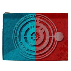 Vector Watch Texture Red Blue Cosmetic Bag (xxl)