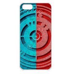 Vector Watch Texture Red Blue Apple Iphone 5 Seamless Case (white)