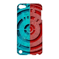 Vector Watch Texture Red Blue Apple Ipod Touch 5 Hardshell Case