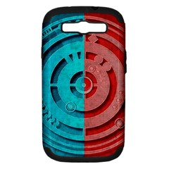 Vector Watch Texture Red Blue Samsung Galaxy S Iii Hardshell Case (pc+silicone)