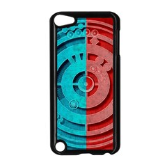 Vector Watch Texture Red Blue Apple Ipod Touch 5 Case (black)