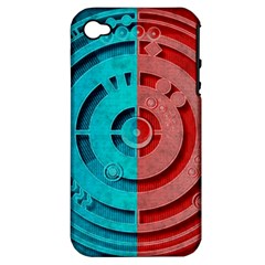 Vector Watch Texture Red Blue Apple Iphone 4/4s Hardshell Case (pc+silicone)