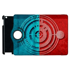 Vector Watch Texture Red Blue Apple iPad 2 Flip 360 Case