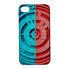 Vector Watch Texture Red Blue Apple Iphone 4/4s Hardshell Case With Stand