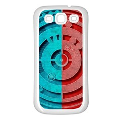 Vector Watch Texture Red Blue Samsung Galaxy S3 Back Case (white)