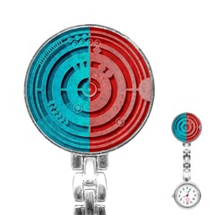 Vector Watch Texture Red Blue Stainless Steel Nurses Watch