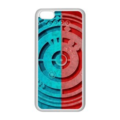 Vector Watch Texture Red Blue Apple iPhone 5C Seamless Case (White)