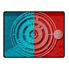 Vector Watch Texture Red Blue Double Sided Fleece Blanket (small)