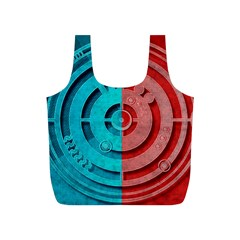 Vector Watch Texture Red Blue Full Print Recycle Bags (s)