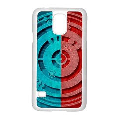 Vector Watch Texture Red Blue Samsung Galaxy S5 Case (White)