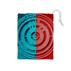 Vector Watch Texture Red Blue Drawstring Pouches (medium)