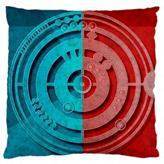 Vector Watch Texture Red Blue Large Flano Cushion Case (Two Sides)