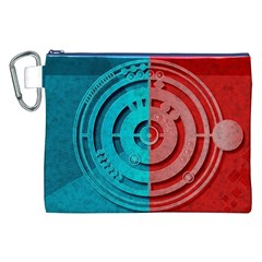 Vector Watch Texture Red Blue Canvas Cosmetic Bag (XXL)