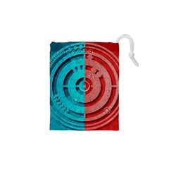 Vector Watch Texture Red Blue Drawstring Pouches (xs)