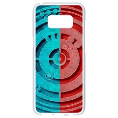 Vector Watch Texture Red Blue Samsung Galaxy S8 White Seamless Case