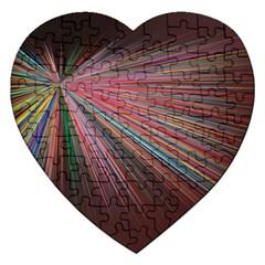 Pattern Flower Background Wallpaper Jigsaw Puzzle (heart)
