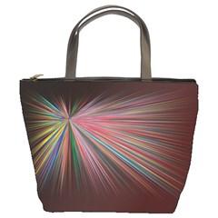 Pattern Flower Background Wallpaper Bucket Bags