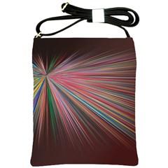 Pattern Flower Background Wallpaper Shoulder Sling Bags