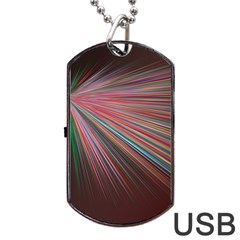 Pattern Flower Background Wallpaper Dog Tag Usb Flash (two Sides)
