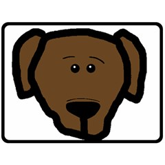 Choc Lab Head Double Sided Fleece Blanket (Large)