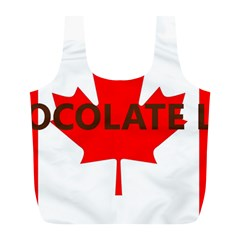 Choc Lab Name Canadian Flag Full Print Recycle Bags (L)