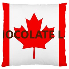 Choc Lab Name Canadian Flag Standard Flano Cushion Case (Two Sides)