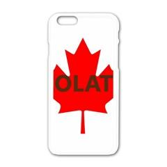 Choc Lab Name Canadian Flag Apple iPhone 6/6S White Enamel Case