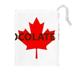 Choc Lab Name Canadian Flag Drawstring Pouches (Extra Large)