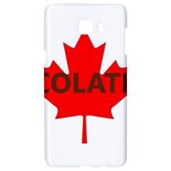 Choc Lab Name Canadian Flag Samsung C9 Pro Hardshell Case