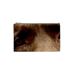 Chocolate Lab Eyes Cosmetic Bag (Small)