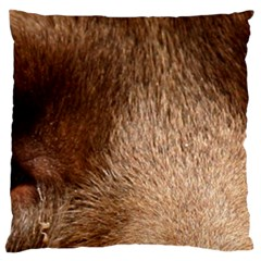 Chocolate Lab Eyes Large Flano Cushion Case (One Side)