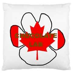 Chocolate Lab Paw Flag Name Large Flano Cushion Case (Two Sides)