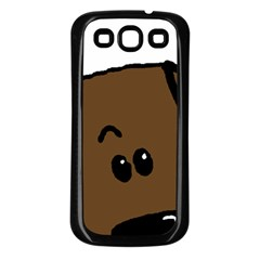 Chocolate Lab Peeping Dog Samsung Galaxy S3 Back Case (Black)