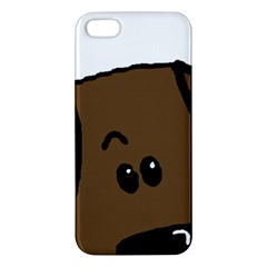 Chocolate Lab Peeping Dog iPhone 5S/ SE Premium Hardshell Case