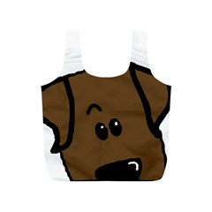 Chocolate Lab Peeping Dog Full Print Recycle Bags (S)