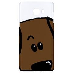 Chocolate Lab Peeping Dog Samsung C9 Pro Hardshell Case