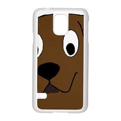 Chocolate Labrador Cartoon Samsung Galaxy S5 Case (White)