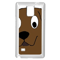 Chocolate Labrador Cartoon Samsung Galaxy Note 4 Case (White)