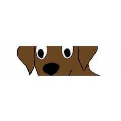 Chocolate Labrador Cartoon Satin Scarf (Oblong)
